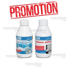 HG professional limescale remover 250 ml. (Blue)+HG shower shield 250 ml