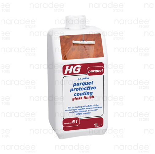 HG parquet gloss finish protective coating 1 L.