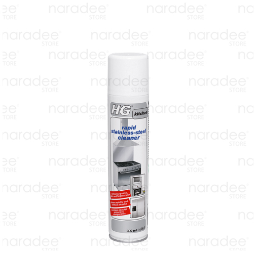 HG rapid stainless-steel cleaner 300 ml.