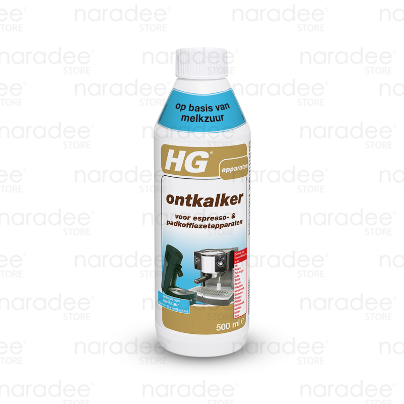 HG koffiemachine ontkalker mlksur (descaler for coffie machines - lactic acid) 500 ml